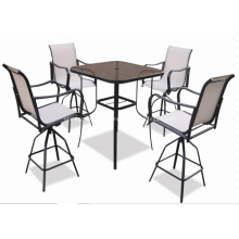 Eslinga al aire libre muebles 5pc bar textilene set - 2 * 1