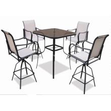 Toile extérieure mobilier 5pc bar set - 2 * 1 textilene