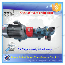 NYP internal gear pump toothed wheel pump for chemicals with high viscosity