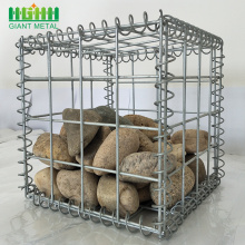 Welded Metal Galvanized Mempertahankan Dinding Gabion Stone Basket