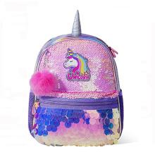 3D Animal School Bag Glitter Unicorn Backpack  Reversible Sequin Backpack For Girls