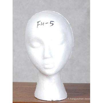 Mousse tête perruque affichage mousse tête Fh05