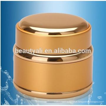 Ouro e prata Jarro de vidro de alumínio frascos de creme cosmético 5g 15g 30g 50g