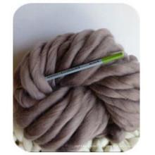 Fil en laine mérinos tricoté à grosses mailles pour le tricotage à la main