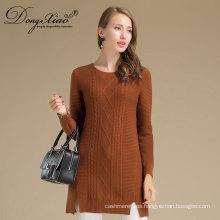 Al por mayor Custom Winter Warm Woman Cashmere Wool Knittedsweater