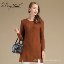 Wholesale Custom Winter Warm Woman Cashmere Wool Knittedsweater