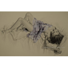 Sexy Nude Woman Peinture sur toile Wall Pictures for Living Room (EBF-076)