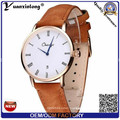 Yxl-306 Mens Simple Dw Style Watches Date Fshion Cheap Men Watch Business Genuine Leather Strap Watch