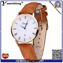 Yxl-306 Hombres Relojes De Estilo Dw Fecha Fshion Hombres baratos Reloj De Negocios Reloj De Correa De Cuero Genuine