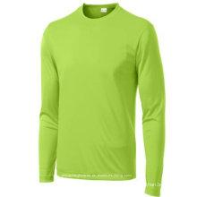 High Quality Long Sleeve Men′s Seamless Running Tshirt