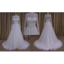 Sexy corsage entièrement perlé une robe de mariée en ligne
