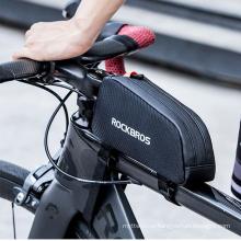 Mountain Bike Bag Front Beam Bag Polyester Upper Tube Bag Riding Touch Screen Mobile Phone Bag 039bk