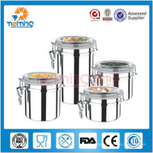 5inch stainless steel kitchen airtight container sets