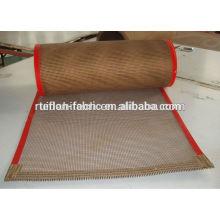 China Kundengebundenes hitzebeständiges ptfe teflon beschichtetes Fiberglas-Ineinander greifen-Förderband