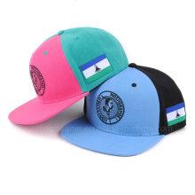 O bordado feito sob encomenda liso fresco personaliza chapéus lisos do Snapback do tampão de Bill Hip Hop dos chapéus do Snapback