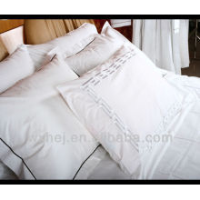 luxury hotel/home solid embroidery and with dark blue cord pillow