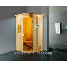 K-718 Sauna chambre faite à Foshan 2 personnes petite salle de flux, salle de sauna à vapeur portable