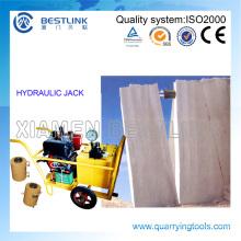 Máquina de empuje hidráulico Bestlink para bloque de mármol