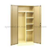 Knock Down Steel Furniture 2 Door Metal Bedroom Wardrobe