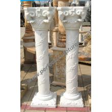 Коринфская колонна с каменным мраморным гранитным песчаником (QCM123)