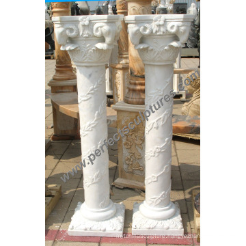 Corinthian Column with Stone Marble Granite Sandstone (QCM123)
