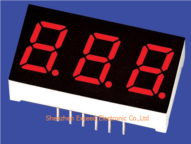 Green 0.8 inch Triple Digit LED Display