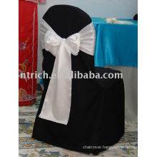 Polyester chair covers,black chair cover,banquet chair cover, white satin sash