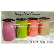 new product ceramic mug with lid,colorful mug,stoneware material ceramic mug wholesale