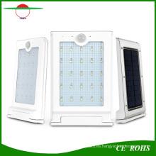 Iluminación solar ultra brillante al aire libre de la luz del jardín de la eficacia energética caliente IP65 Iluminación solar montada en la pared del aluminio 20 LED