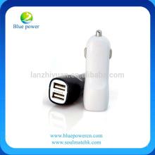 Chargeur de voiture à double port USB 2.1A Chargeur de voiture rapide Adaptateur automatique avec sac de téléphone cellulaire gratuit pour iPhone 6