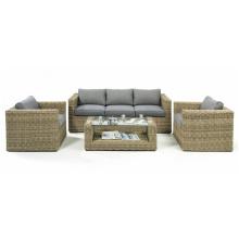 Conjunto de sofá de mimbre muebles jardín Patio mimbre salón