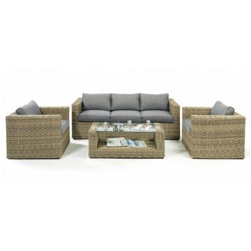 Jogo de sofá jardim de mobília do Rattan ao ar livre do pátio do vime Lounge
