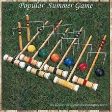 2016 Neue Hochzeit Sommer Outdoor 6 Spieler Wooden Croquet Spiel
