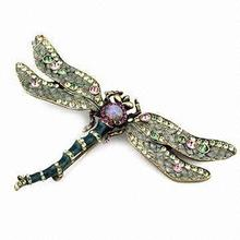 Rhinestone Brooch/Pin, various designs available, Ideal for women's body and clothing accessories