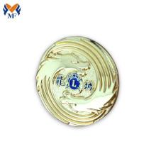 Magnet gold round badge lapel pin