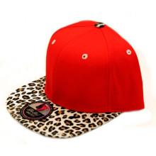 New 100% Acrylic Leopard Brim Snapback Cap