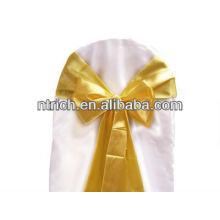Створки атласа стул, стул галстук, обертывания для свадьбы banquet отель