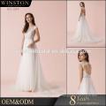 Heißer Verkaufs-gute Qualität 2017 neues Artsatin-Hochzeitskleid