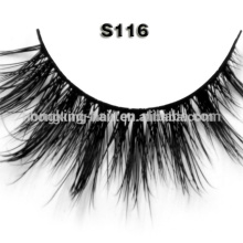 Lady Gaga styles new factory price 100% real mink fur false eyelash