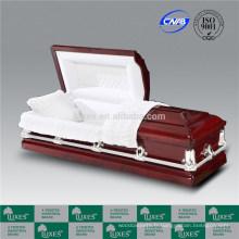 Fabuleux US Style en bois cercueils cercueils de couleurs rouges