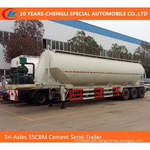 Tri-Axles 55cbm V Type Bulk Cement Semi Trailer