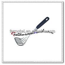 U077 Torque de batata com ranhura em aço inoxidável com cabo de plástico
