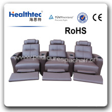 Top Backrest Geniuine Leather Home Theater Furniture (T019)