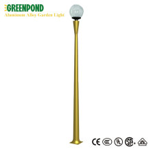 Golden Pole Glass Bulb Aluminum Alloy Yard Light
