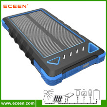2017 wholesale price 8000mAh waterproof portable solar phone charger