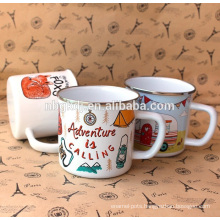 enamel coating mugs & best price hot selling & new product mugs and cups