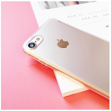 Transparent PC and colorful TPU iPhone case
