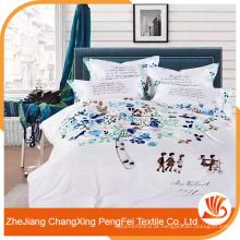 Tela de cama de cama de microfibra escovada de microfibra de 100% poliéster 100% barato
