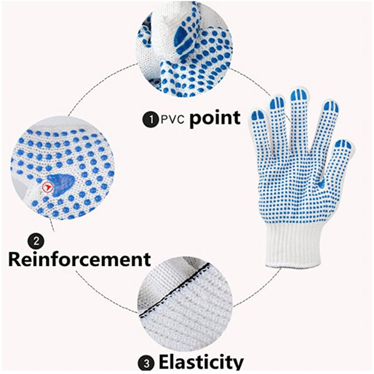 Fashion Blue Knitted Gloves