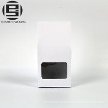 Bolso de papel de kraft blanco pequeño supermercado stand up bag
